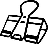 Binder Clip - Icon Illustration