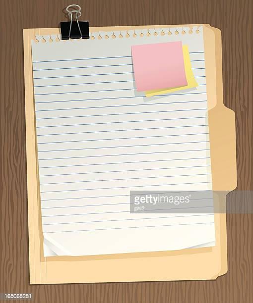 Binder Clip, Paper, Folder, Sticky Notes Vector