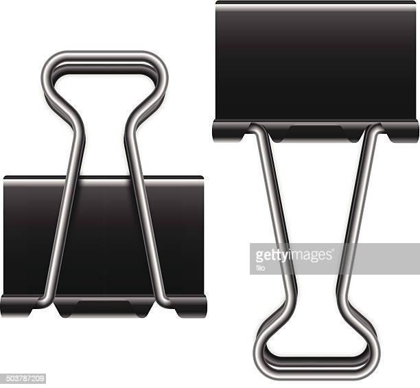 binder clips - binder clip stock illustrations