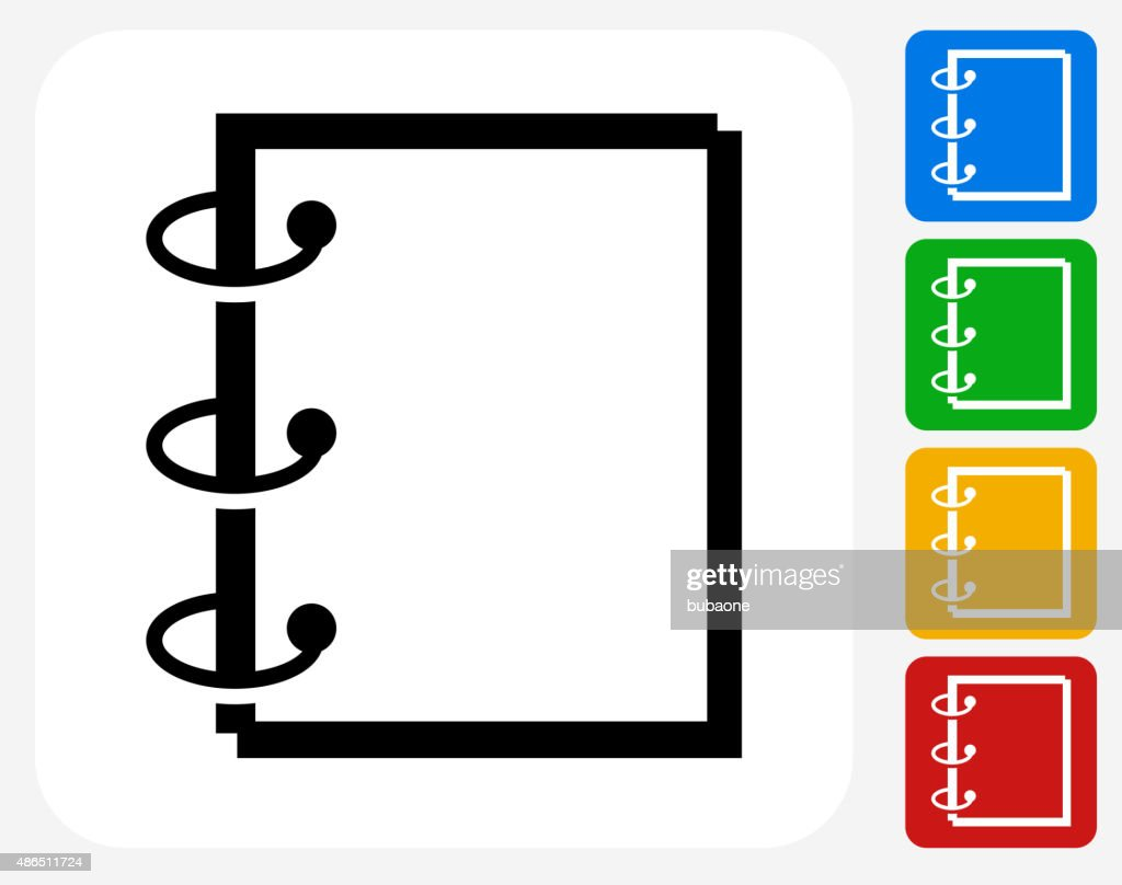 binder icon flat graphic design vector art getty images