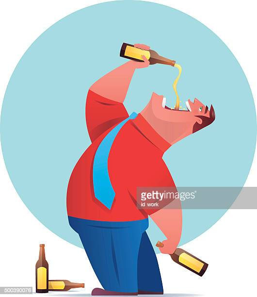 binge drinking - beer alcohol stock illustrations, clip art, cartoons, & icons