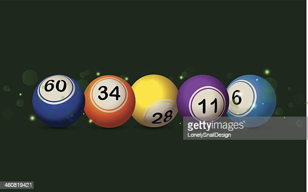 bingo bokeh - bingo balls stock illustrations
