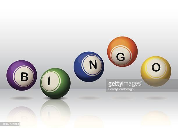 bingo bounce - bingo balls stock illustrations