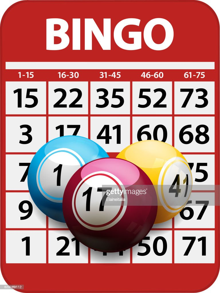 Bingo card and balls background