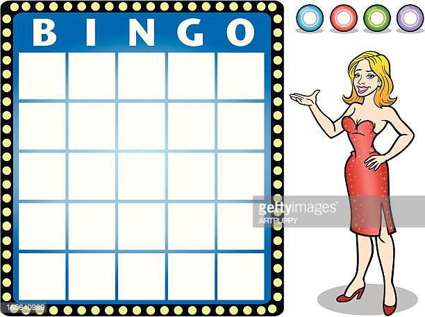 bingo card award - bingo stock illustrations