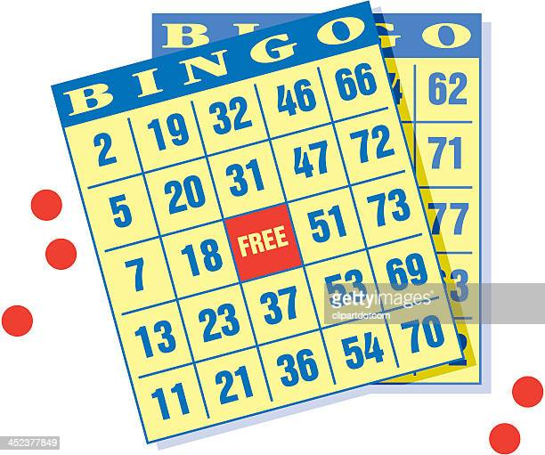 bingo cards - bingo stock illustrations