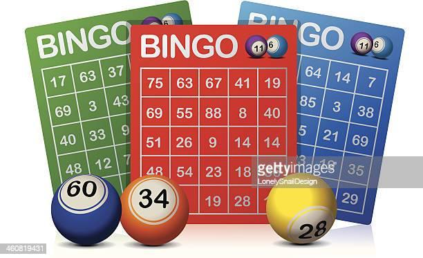 bingo cards - bingo balls stock illustrations