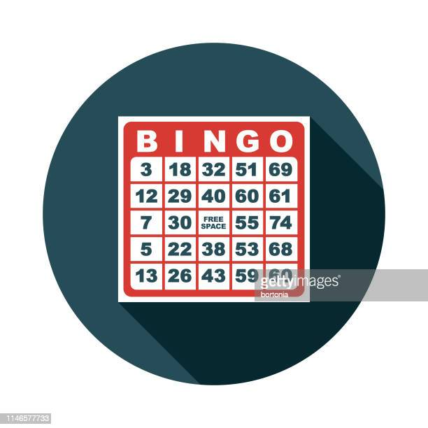 bingo game flat design icon - bingo stock illustrations