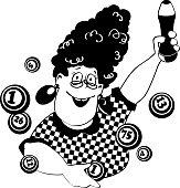 Bingo lady clip-art