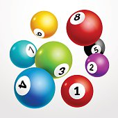 Bingo lottery balls numbers background. Lottery game balls. Lotto winner