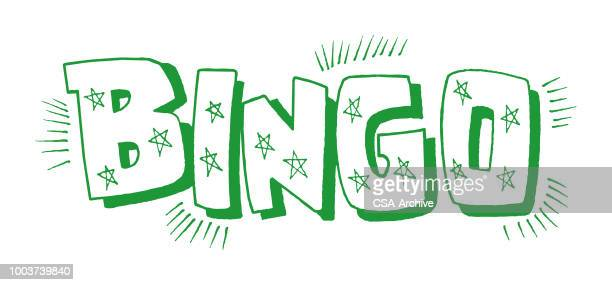 bingo - bingo stock illustrations