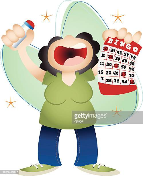 bingo winner - bingo stock illustrations