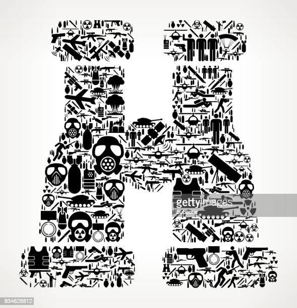 Binocular  War and Modern Warfare Vector Icon Pattern