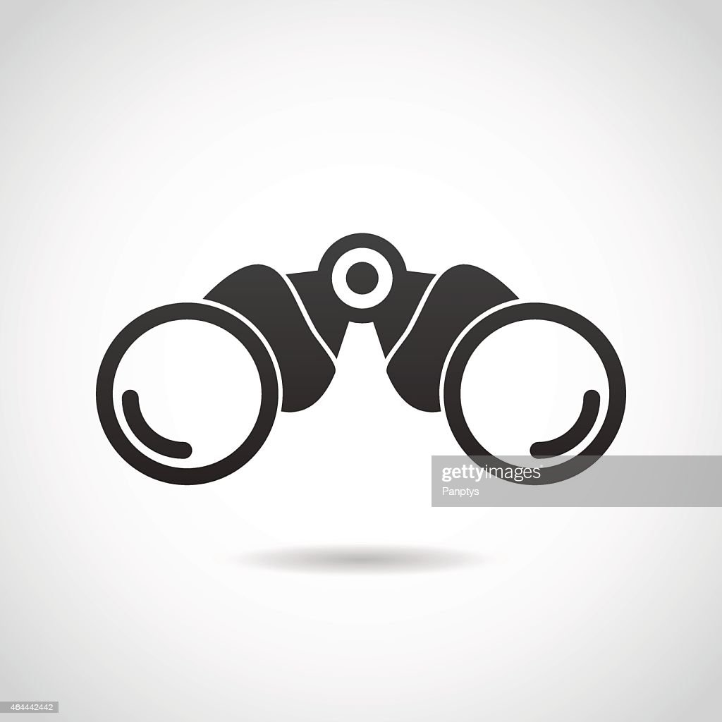 Binoculars icon isolated on white background.