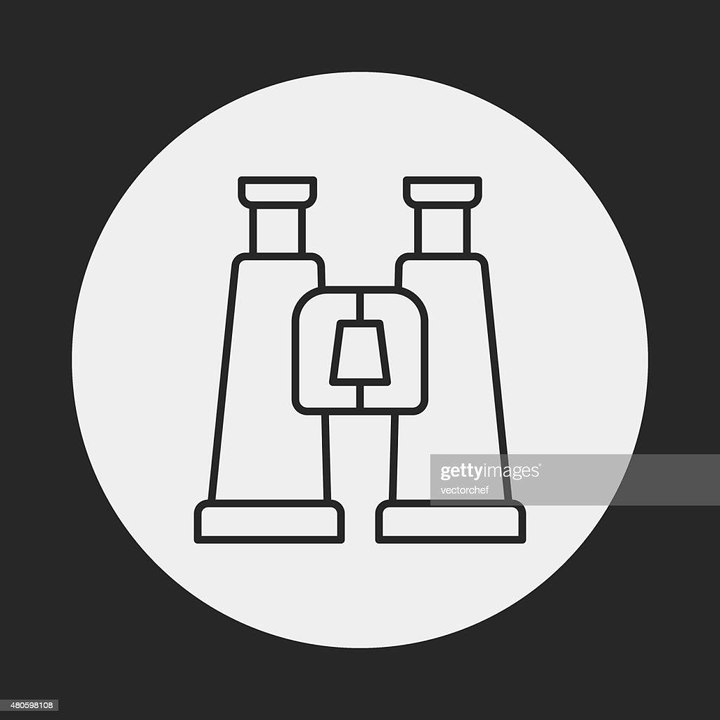 Binoculars line icon : Vector Art