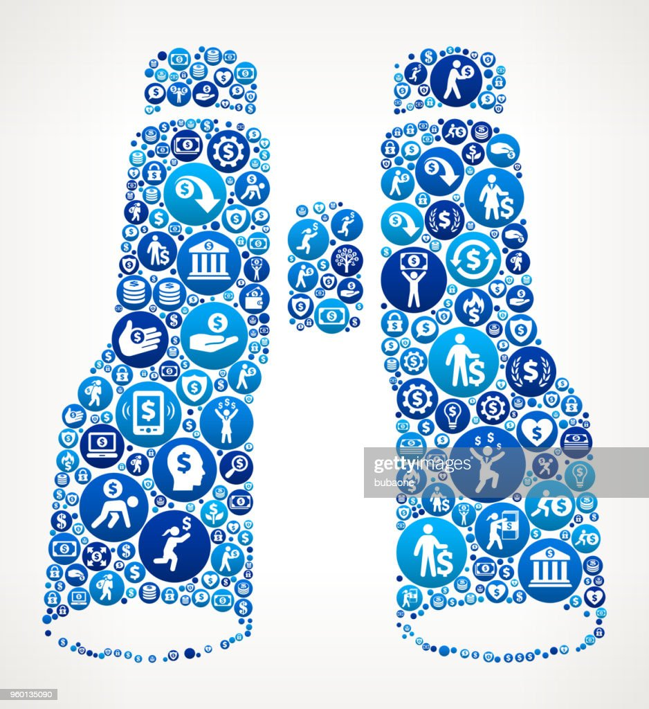 Fernglas Geld blaues Symbol Muster Hintergrund : Stock-Illustration