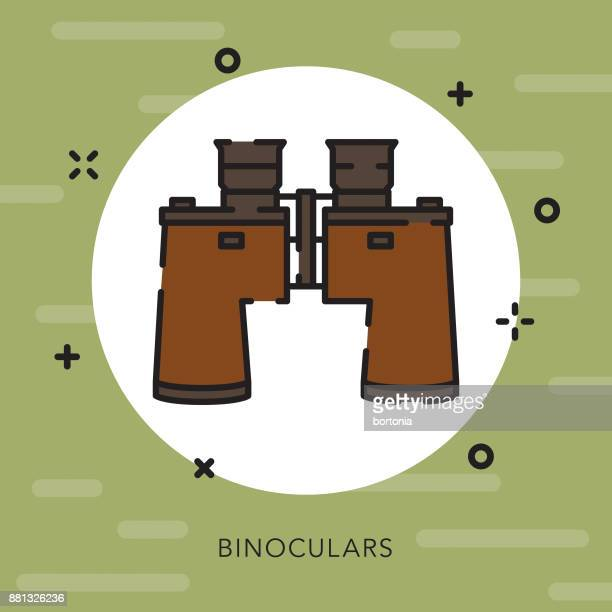 Binoculars Open Outline Camping Icon