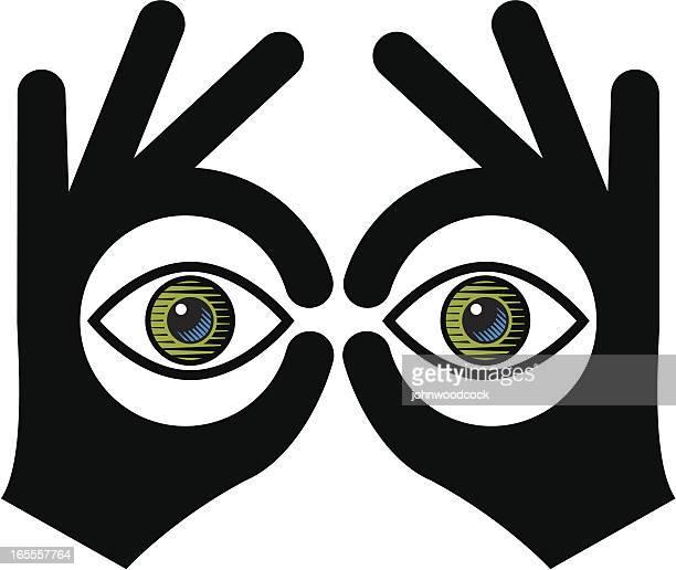 ein fernglas - fernglas stock-grafiken, -clipart, -cartoons und -symbole