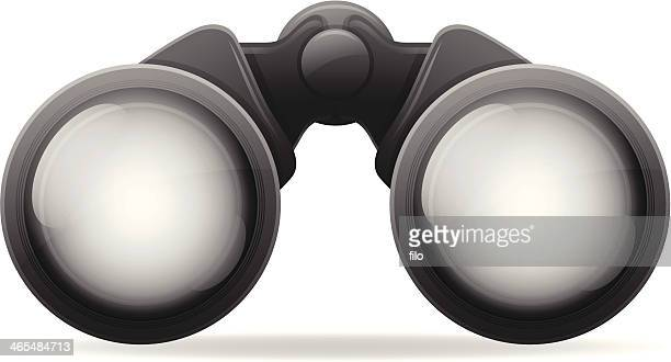 binoculars - looking at view stock illustrations