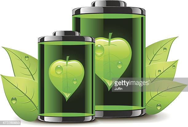 bio batteries with leaves - biodiesel stock illustrations, clip art, cartoons, & icons