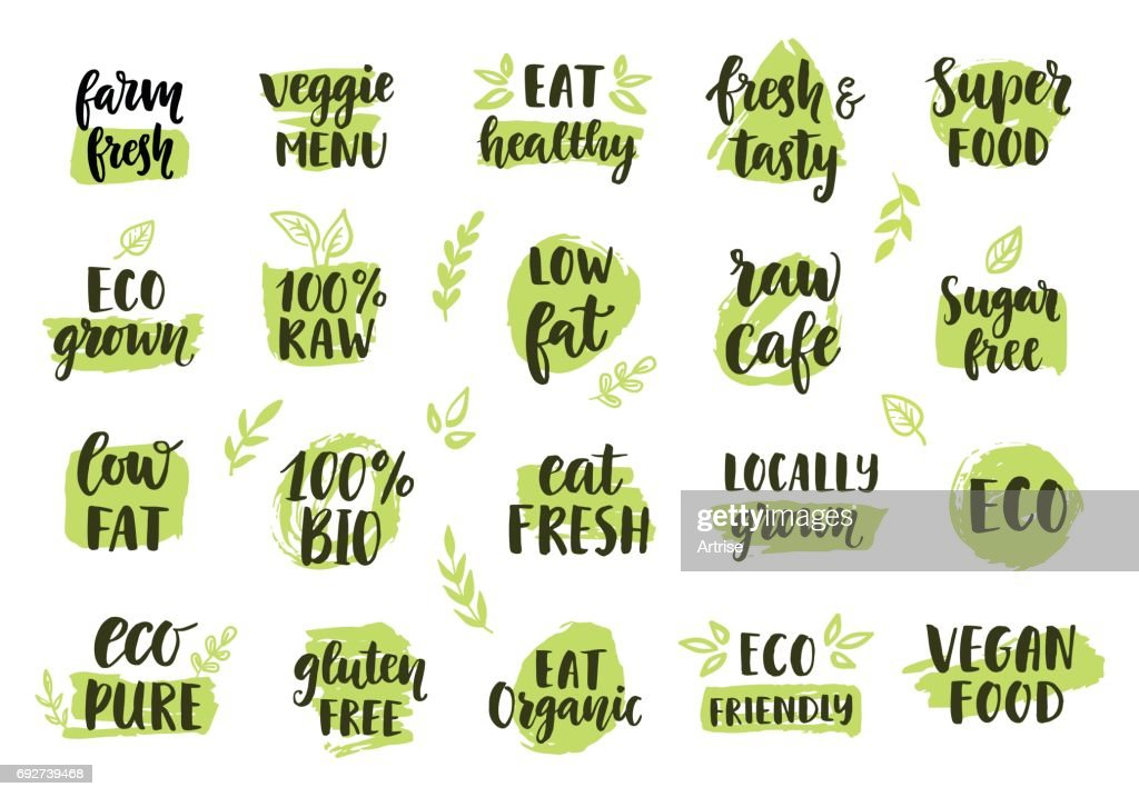 Bio, eco, organic icons set