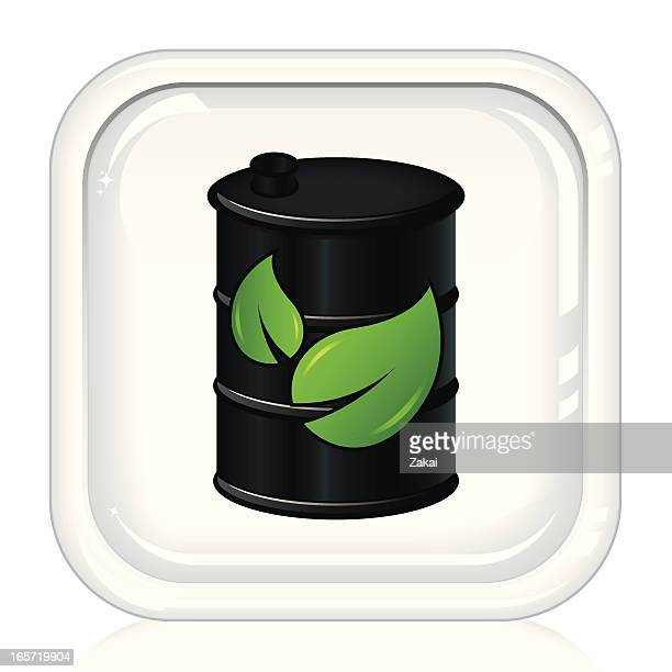 bio fuel energy | white button - biodiesel stock illustrations, clip art, cartoons, & icons