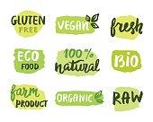 Bio natural food concept