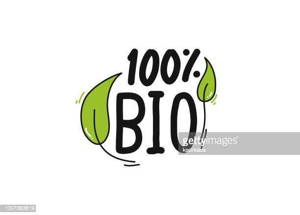 stockillustraties, clipart, cartoons en iconen met bio organische product iconen vector illustratie symbool design element - biologisch
