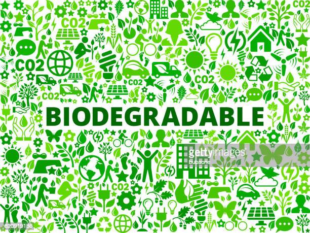 biodegradable environmental conservation vector icon pattern - activist icon stock illustrations
