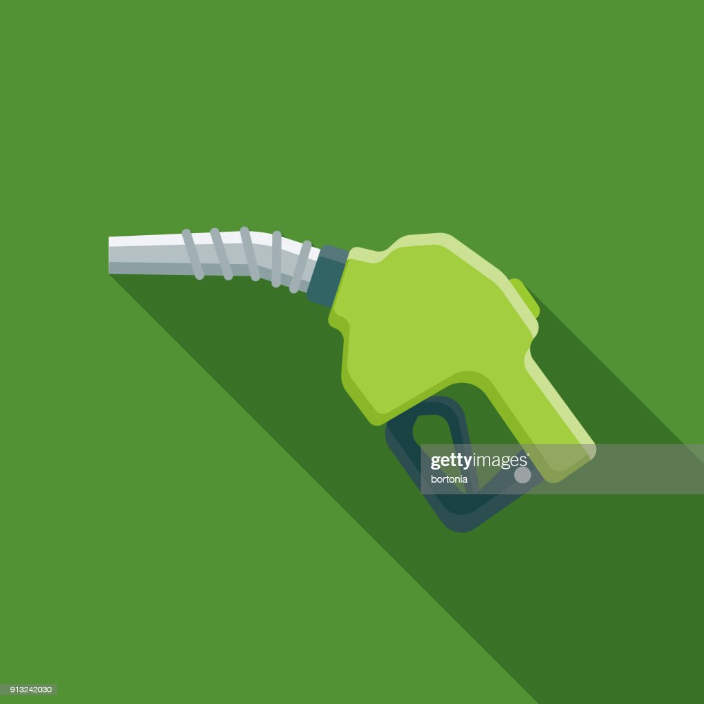 Biofuel Flat Design Environmental Icon : stock illustration
