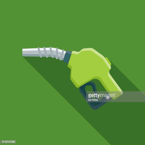 biofuel flat design environmental icon - fuel pump stock illustrations, clip art, cartoons, & icons