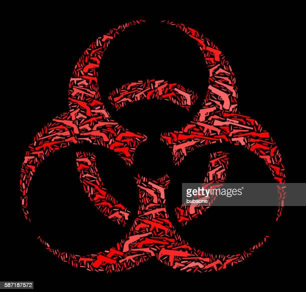 Biohazard Gun Icon Pattern Background