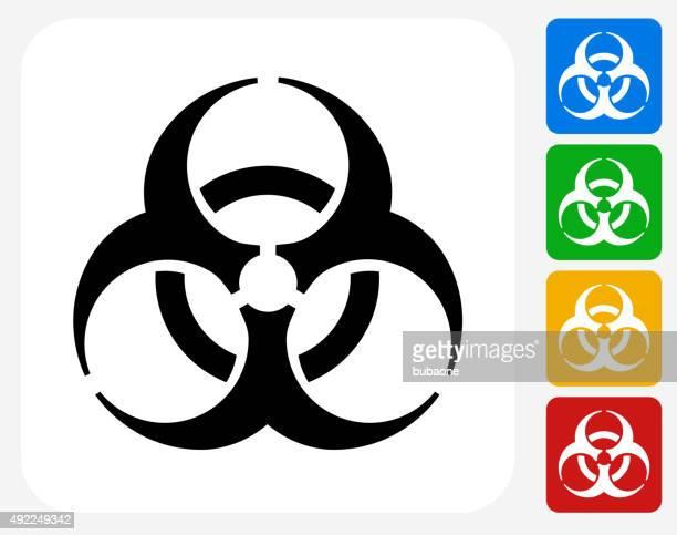 Biohazard Icon Flat Graphic Design