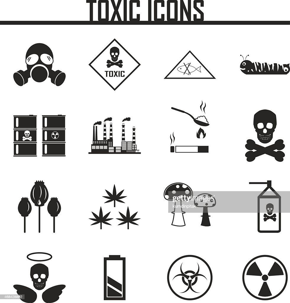 Biohazard Icons. vector illustration eps 10