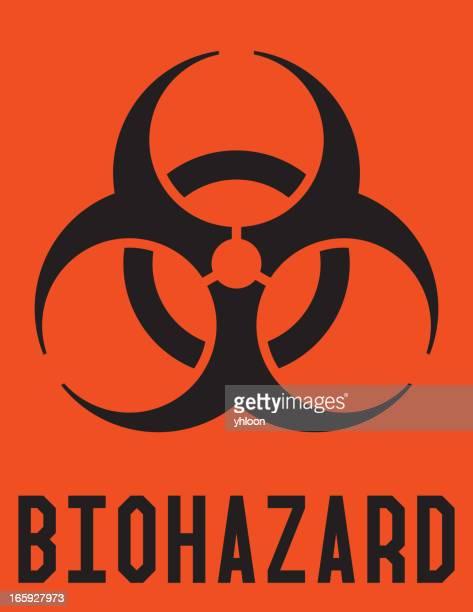 biohazard label - biohazard symbol stock illustrations
