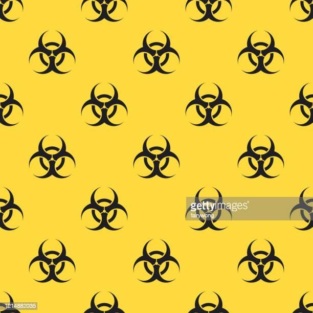 biohazard seamless pattern - uranium stock illustrations
