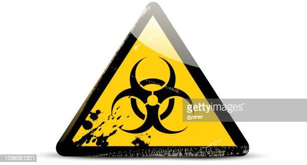biohazard sign - biohazardous substance stock illustrations