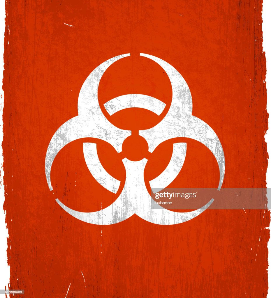 Biohazard Symbol On Royalty Free Vector Background Vector Art