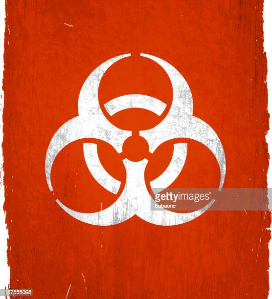 bio-hazard symbol on royalty free vector Background