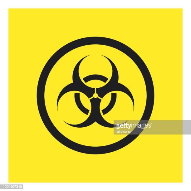 biohazard symbol sign,vector icon - infectious disease stock illustrations