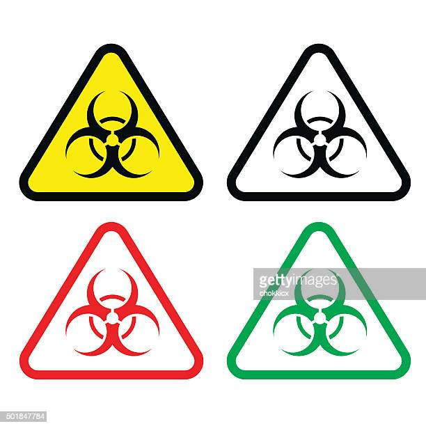 Biohazard Triangle Set
