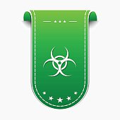 Biohazrd Sign Green Vector Icon Design