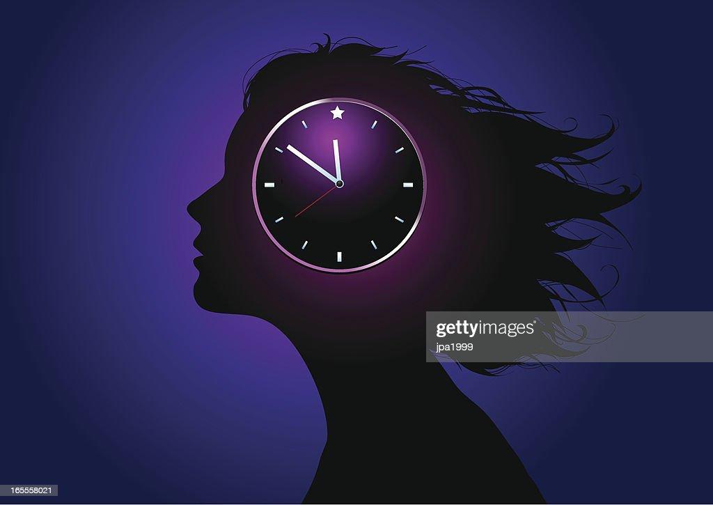 Biological clock : stock illustration