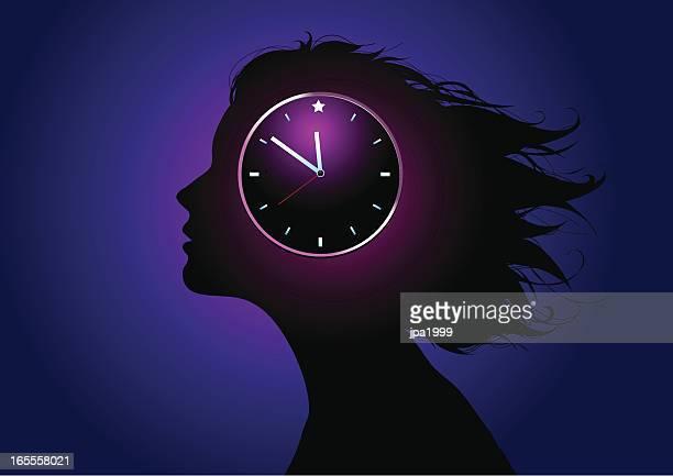 biological clock - hormone stock illustrations