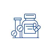 Biologically active additives line icon concept. Biologically active additives flat  vector symbol, sign, outline illustration.