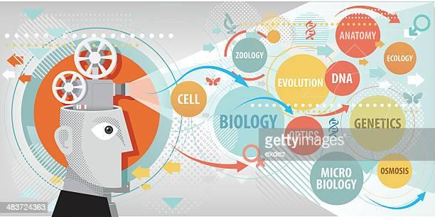 biology projection - video still stock illustrations, clip art, cartoons, & icons