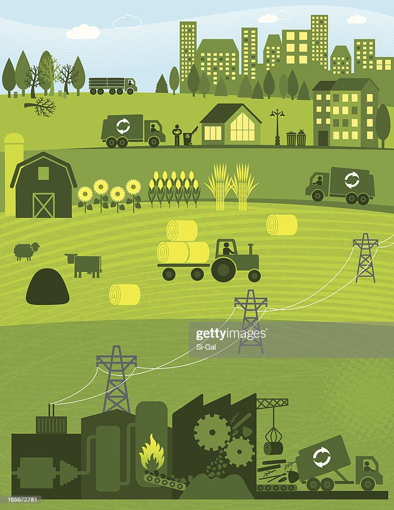 Biomass : stock illustration