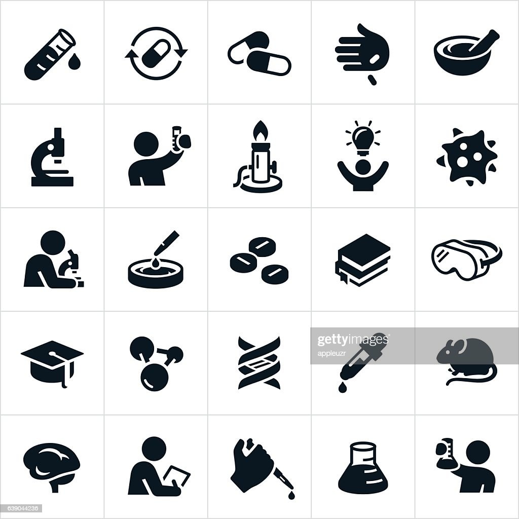 Biomedical Science and Laboratory Icons : stock illustration