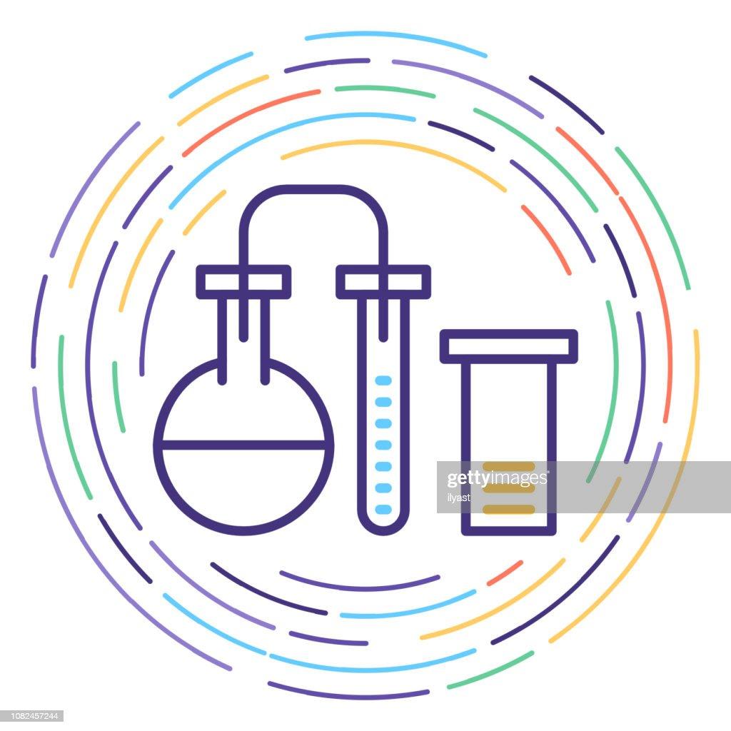 Biotechnology Line Icon Illustration