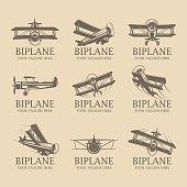 Biplane logos